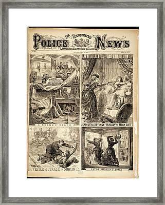 Four Crime Scenes Framed Print