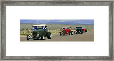 Four Cruzing  Duce Rods Framed Print by Jack Pumphrey