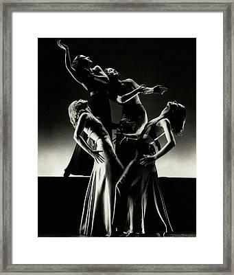 Four Dancers Of The Albertina Rasch Ballet Group Framed Print