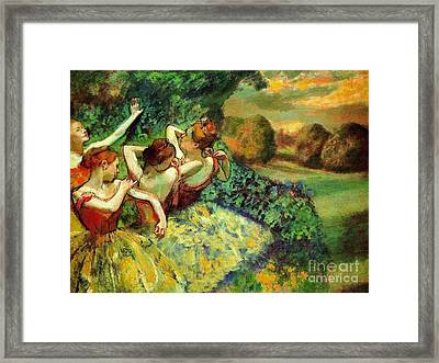 Four Dancers Framed Print by Pg Reproductions