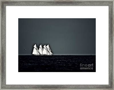 Four Fifteens And A Helicopter Framed Print by Nigel Pert