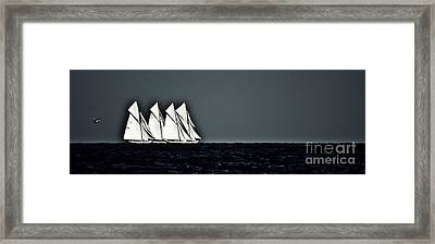 Four Fifteens And A Helicopter - Panoramic Framed Print by Nigel Pert