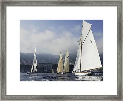 Four Fifteens - Monaco Framed Print by Nigel Pert