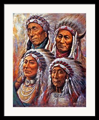 Black Elk Framed Prints