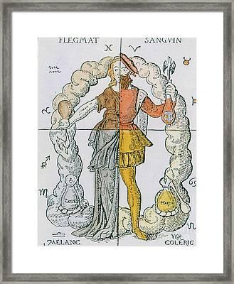 Four Humors Hippocratic Medicine Framed Print