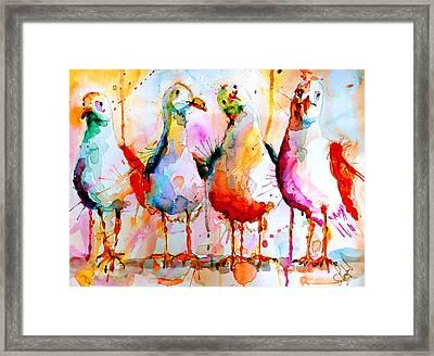 Four In A Row Framed Print