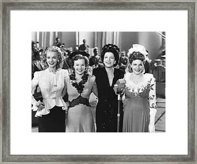 Four Jills In A Jeep, From Left, Carole Framed Print by Everett