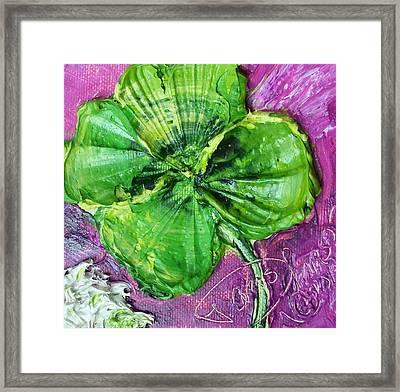 Four Leaf Clover Framed Print by Paris Wyatt Llanso