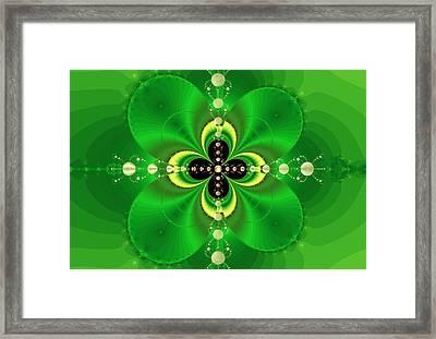 Four Leaf Clover Framed Print by Reginald Atkins