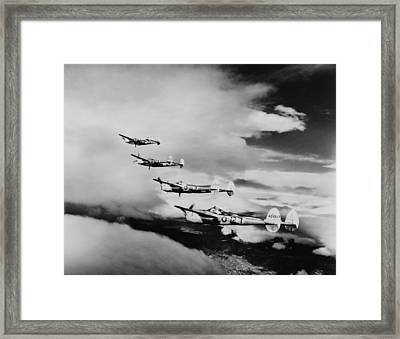Four Lockheed P-38 Lightnings Framed Print by Everett