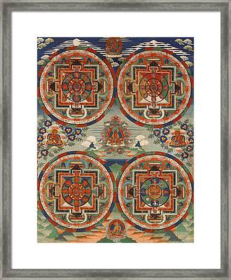 Four Mandalas Framed Print by Unknown