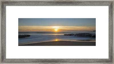 Four Mile Beach Sunset Framed Print by Loree Johnson