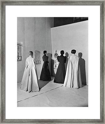Four Models Wearing Charles James Coats Framed Print by Cecil Beaton