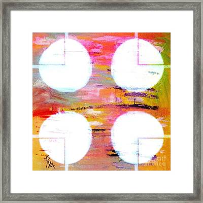 Four Moons Palette Framed Print by PainterArtist FIN