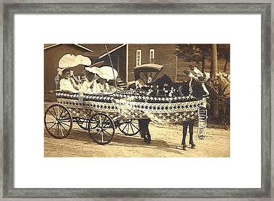 Four Of July Parade Framed Print by Nancy Tobin