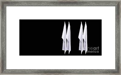 Four Paper Airplanes Framed Print by Edward Fielding