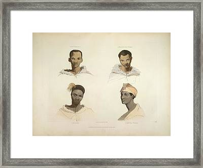 Four Portraits Framed Print by British Library