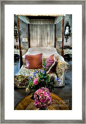 Four Poster Bed Framed Print by Adrian Evans
