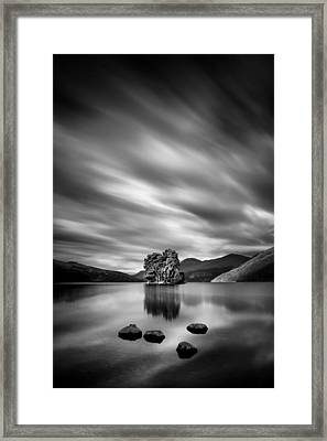 Four Rocks Framed Print by Dave Bowman