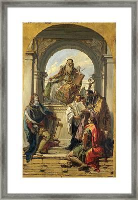 Four Saints Framed Print by Giovanni Battista Tiepolo