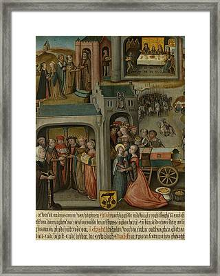 Four Scenes From The Legend Of St Elizabeth Of Hungary Framed Print by Litz Collection