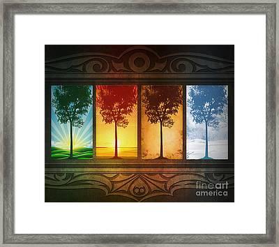 Four Seasons Framed Print by Bedros Awak
