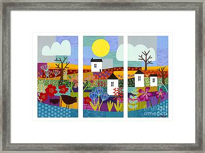 Framed Print featuring the painting Four Seasons by Carla Bank