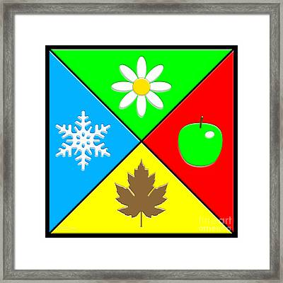 Framed Print featuring the digital art Four Seasons by Cristophers Dream Artistry