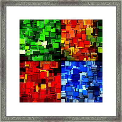 Four Seasons In Abstract II Framed Print by Lourry Legarde