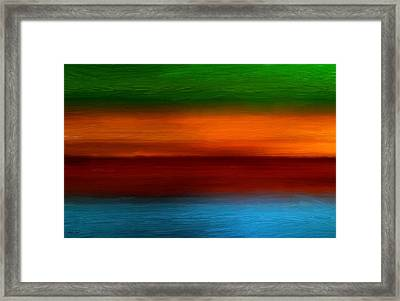 Four Seasons Magic Framed Print by Lourry Legarde