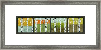 Four Seasons Framed Print by Michelle Calkins