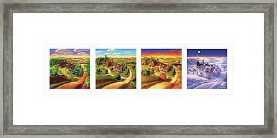 Four Seasons On The Farm Framed Print
