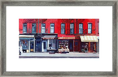 Four Shops On 11th Ave Framed Print by Anthony Butera