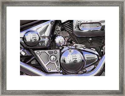 Four-stroke Framed Print