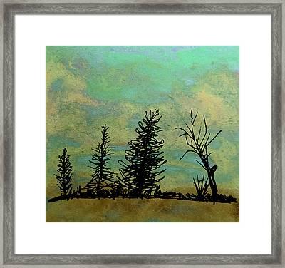 Four Trees  Framed Print by R Kyllo