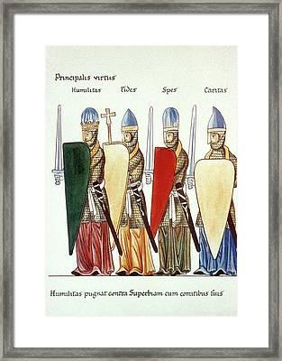 Four Virtues, 12th Century Framed Print