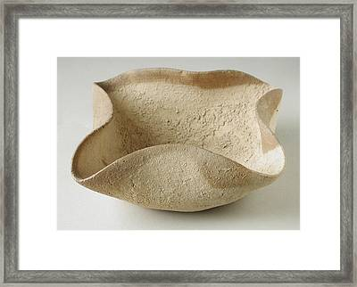Four Wick Oil Lamp, 2000 Bc Framed Print