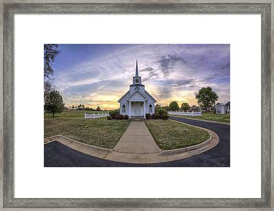 Four Winds Chapel At Sunset - Arkansas - Conway Framed Print