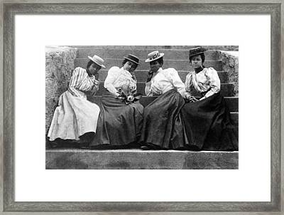 Four Women, 19th Century Framed Print by Granger