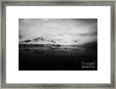 Fournier Bay On Anvers Island Antarctica Framed Print by Joe Fox