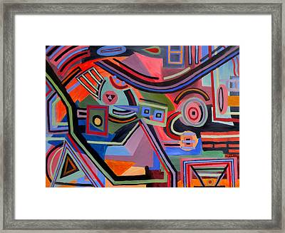 Fourth Dimension Haze Framed Print by Robert Ford