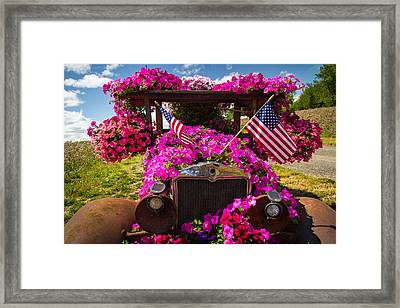 Fourth Of July Color Framed Print
