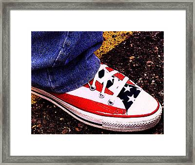 Fourth Of July Connies Framed Print by Ron Regalado
