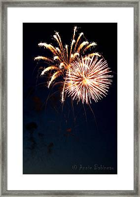 Fourth Of July Fireworks Framed Print by Anne Babineau