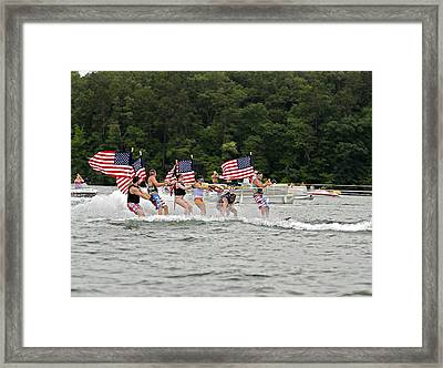 Fourth Of July On The Lake Framed Print