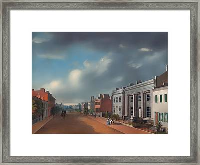 Fourth Street East From Vine Framed Print by Mountain Dreams