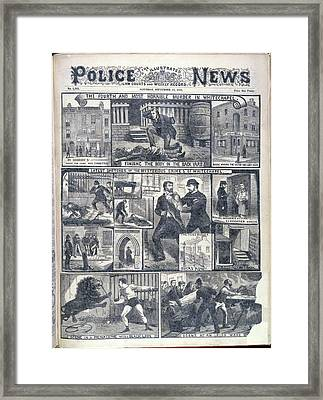 Fourth Whitechapel Murder Framed Print by British Library