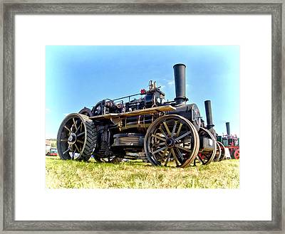 Fowler Ploughing Engine Framed Print
