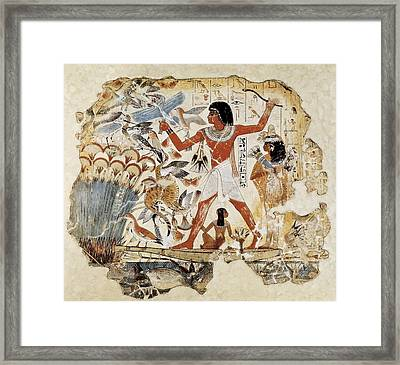 Fowling In The Marshes. Ca. 1400 Bc Framed Print by Everett