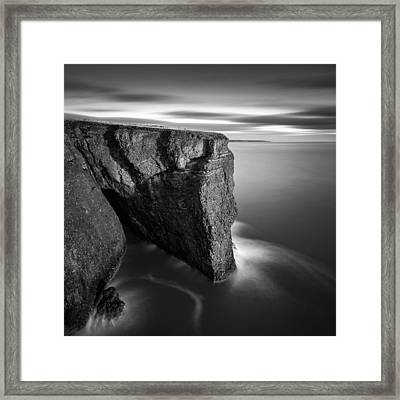 Fowlsheugh Cliffs Framed Print by Dave Bowman
